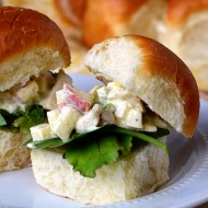 Curry Chicken Salad Sliders – the meal that disappeared