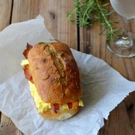 Rosemary and Olive Oil Ciabatta Egg Sandwiches