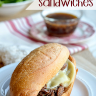 Slow Cooker and Freezer Friendly French Dip Sandwiches