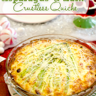 Christmas Tree Holiday Crustless Quiche {Asparagus and Ham Quiche}