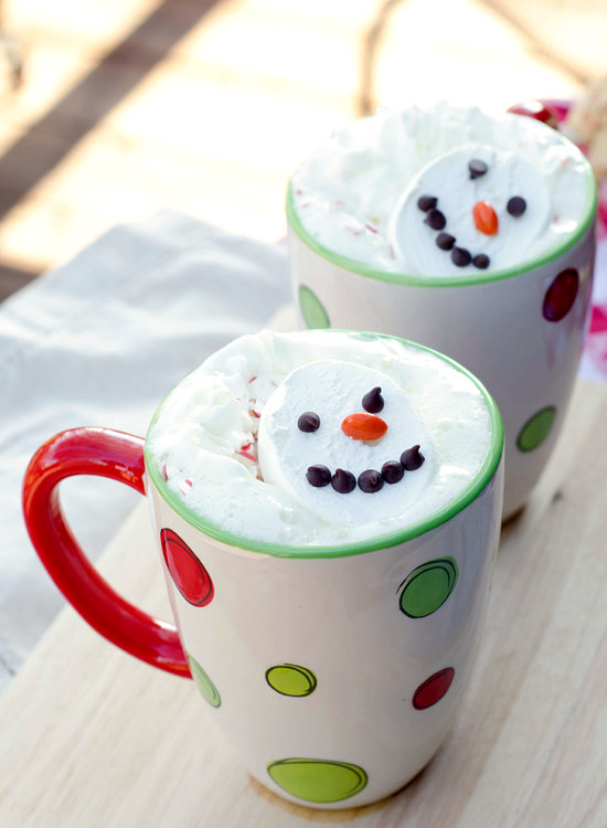 Snowman Hot White Chocolate | 17 Christmas Crock Pot Recipes For A Memorable Time With Your Family