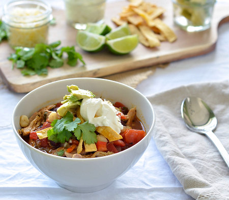 Slow Cooker recipe for Southwestern Chicken Soup