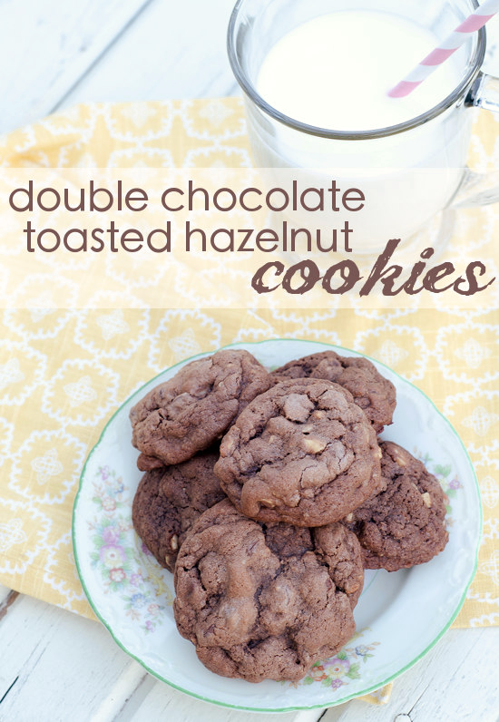 Double Chocolate Toasted Hazelnut Cookies