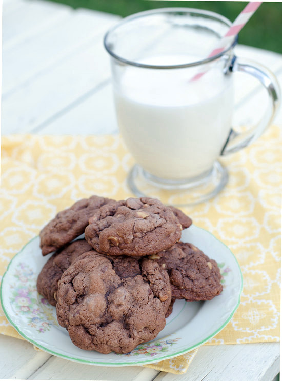 Double Chocolate and Toasted Hazelnut Cookies