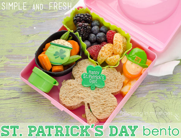 Simple and Fresh St Patrick's Day Bento