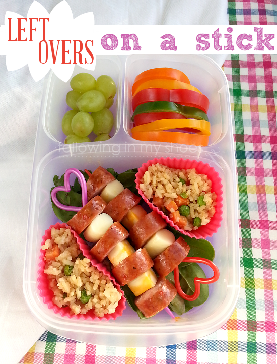 leftovers on a stick bento