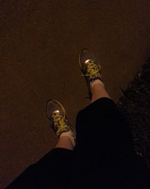 running at night alone