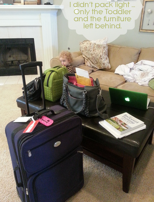 what I packed for blissdom