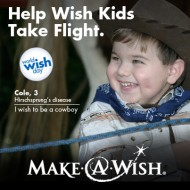 Help Wish Kids Take Flight. #WorldWishDay