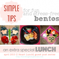 Tips For Making Bentos Fun and Stress Free