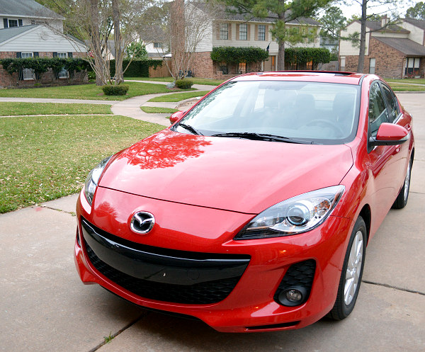 2013 Mazda3 in Red with Sunroof