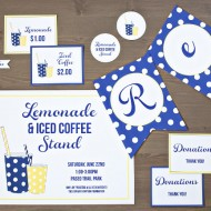 Our First Lemonade Stand {free printables}