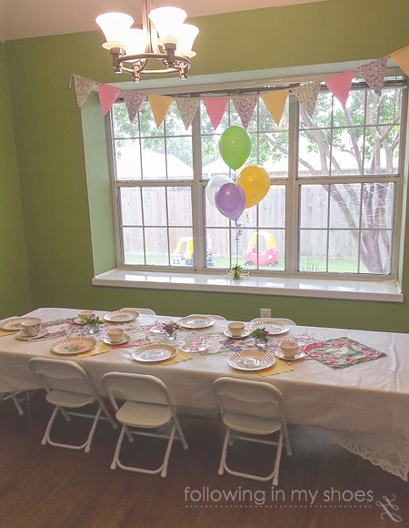 Tea Party Birthday Tablescape