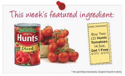 HEB Hunts Tomato Coupon
