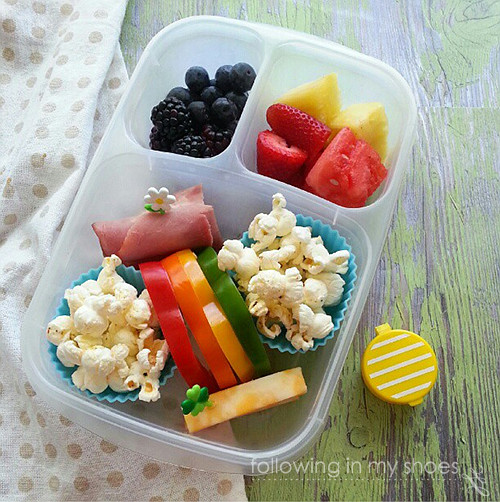 Rainbow Bento packed in an @EasyLunchboxes