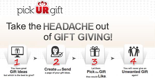 pickURgift for easy gift giving