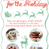 Preparing and Organizing Early for the Holidays {guest post}