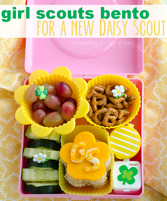 A Girl Scout #Bento for a new Daisy Scout!