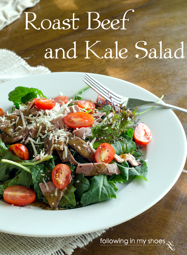 Roast Beef and Kale Salad #grainfree #primal
