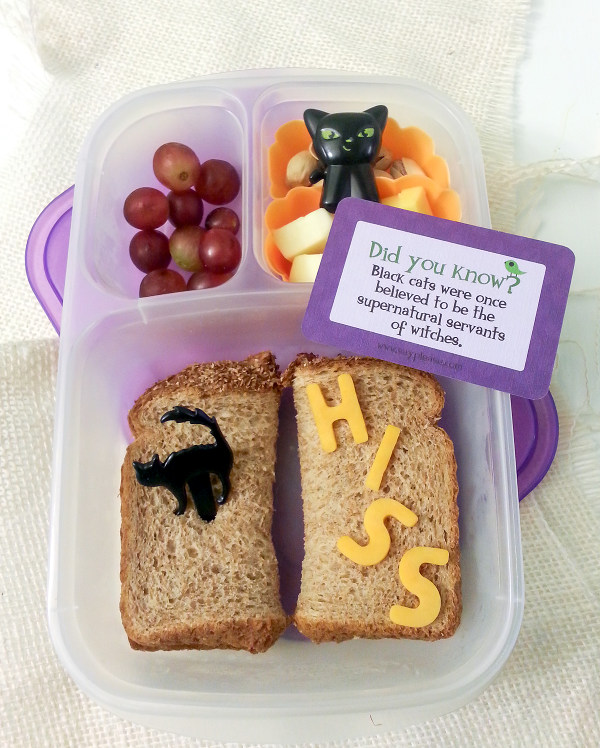Simple Black Cat Halloween Lunch