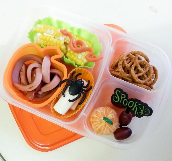creepy crawlie halloween lunch