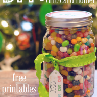 DIY Candy Jar Gift Card Holder {and free gift printables}