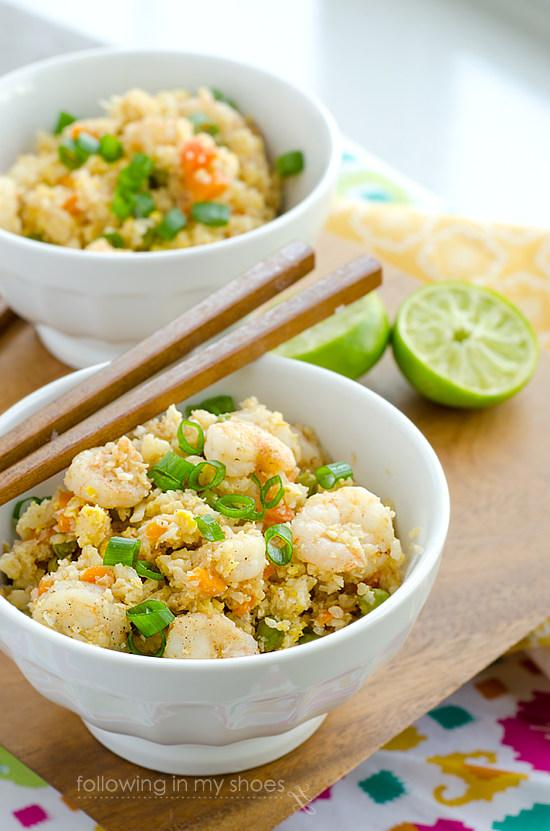 Spicy Shrimp Fried Rice #GrainFree #Paleo #Glutenfree