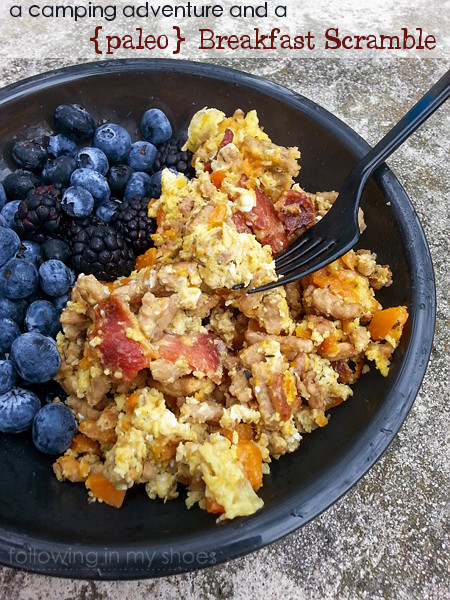 paleo breakfast scramble camping food