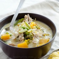 Slow Cooker Chicken Pot Pie Soup {gf, df}