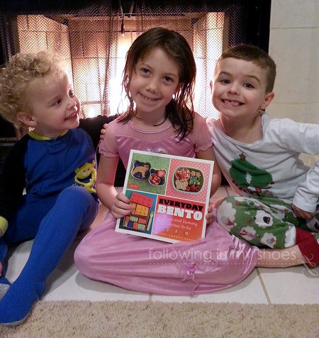 The Kidlets were excited to see a new book of lunch ideas.