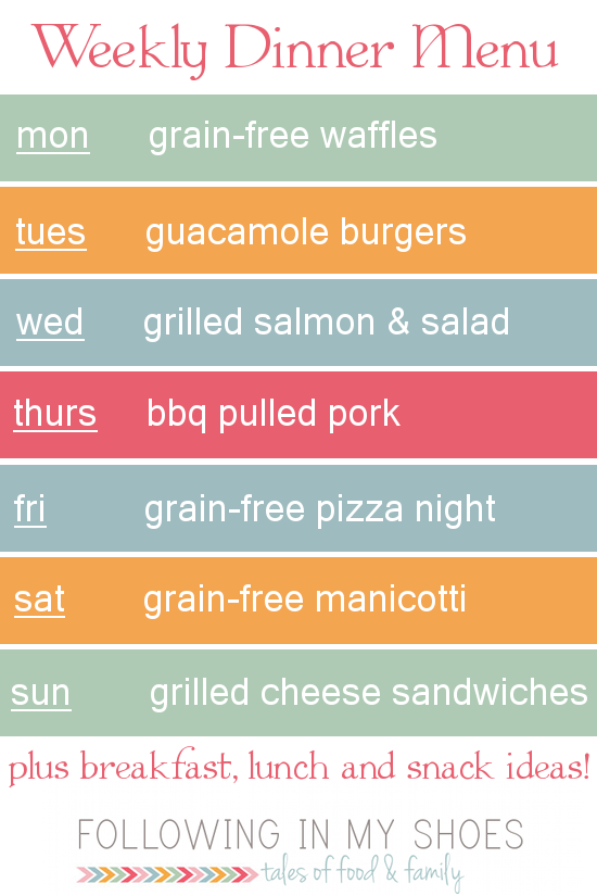 #grainfree meal plan 3-24-14