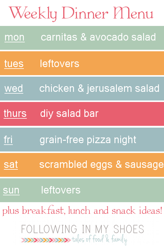 #grainfree meal plan 5-05-14