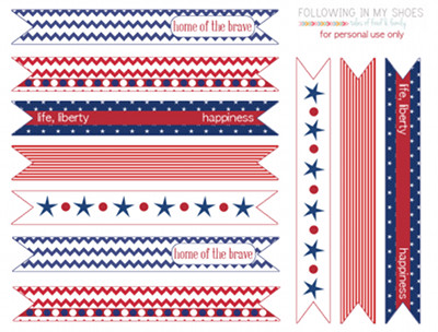 patriotic straw flags