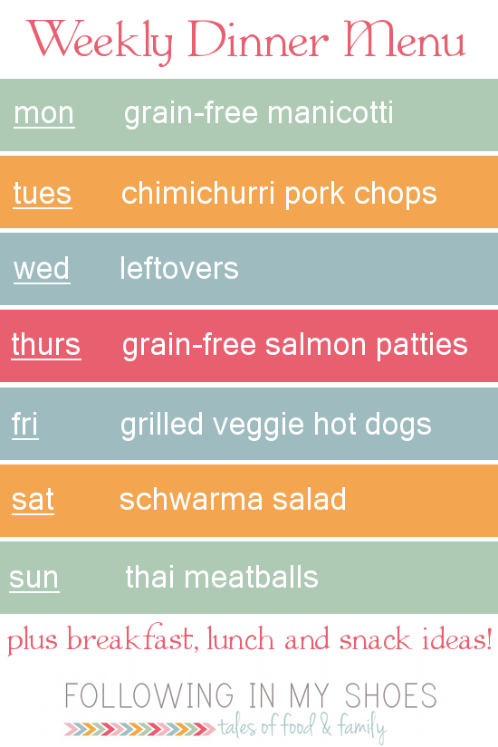 #grainfree meal plan 6-30-14