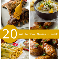 20 Back-to-School Slow Cooker Recipes
