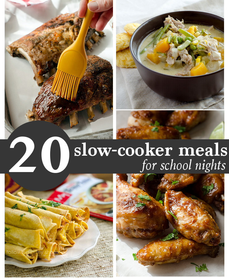 crockpot recipes for easy school night dinners