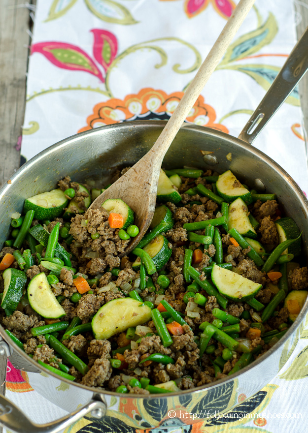 One Pan Moroccan Spiced Beef and Vegetable Skillet