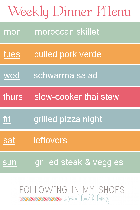#grainfree meal plan 7-7-14
