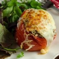 Slow-Cooker Paleo Italian Stuffed Peppers