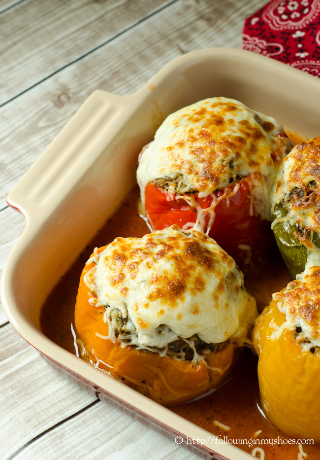 Slow Cooker Italian Stuffed Peppers paleo and grainfree