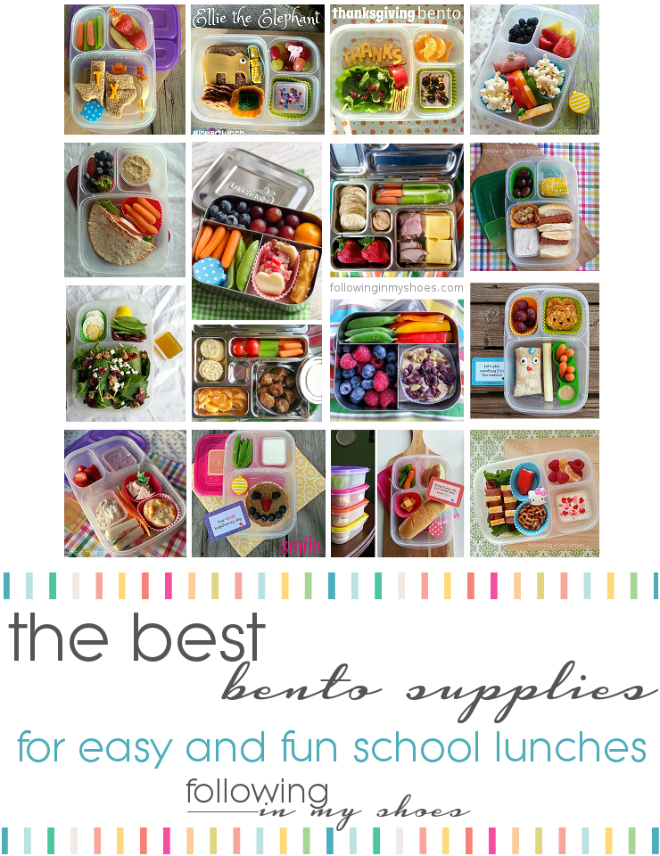 Best #Bento supplies for easy and fun school lunches