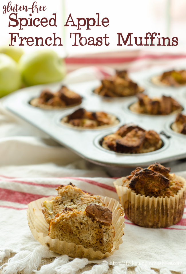gluten free spiced apple muffin