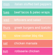 A Meal Plan I Must Have!