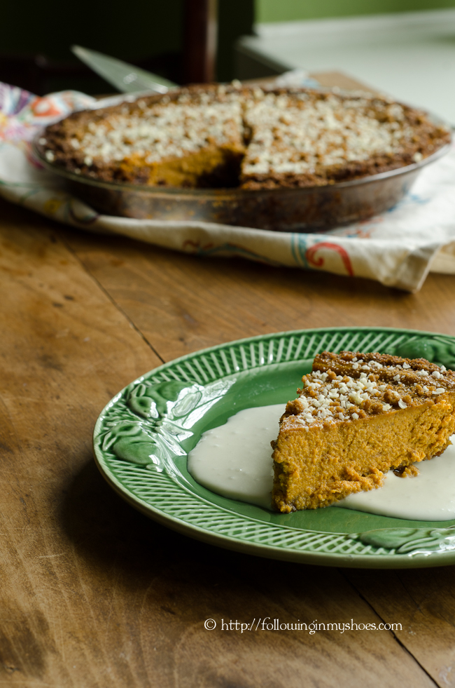 Gluten Free White Chocolate Pumpkin Pie from David Venable