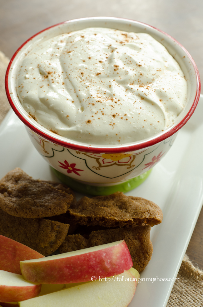 Egg Nog Cream Cheese Dip