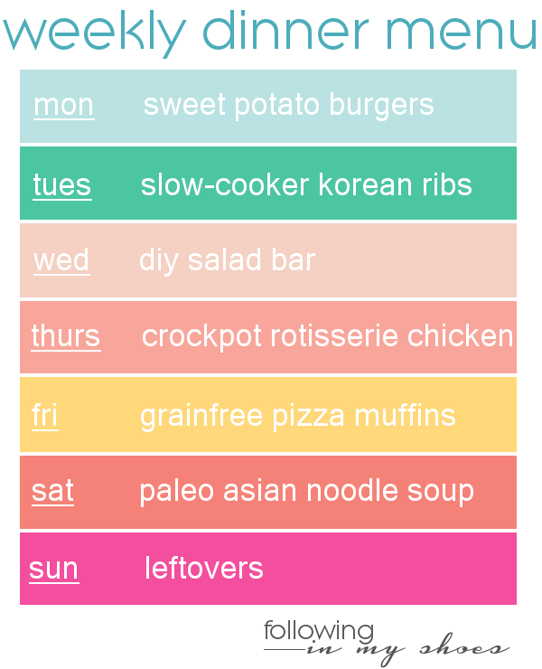 #grainfree meal -- whole30 meal plan for week 2